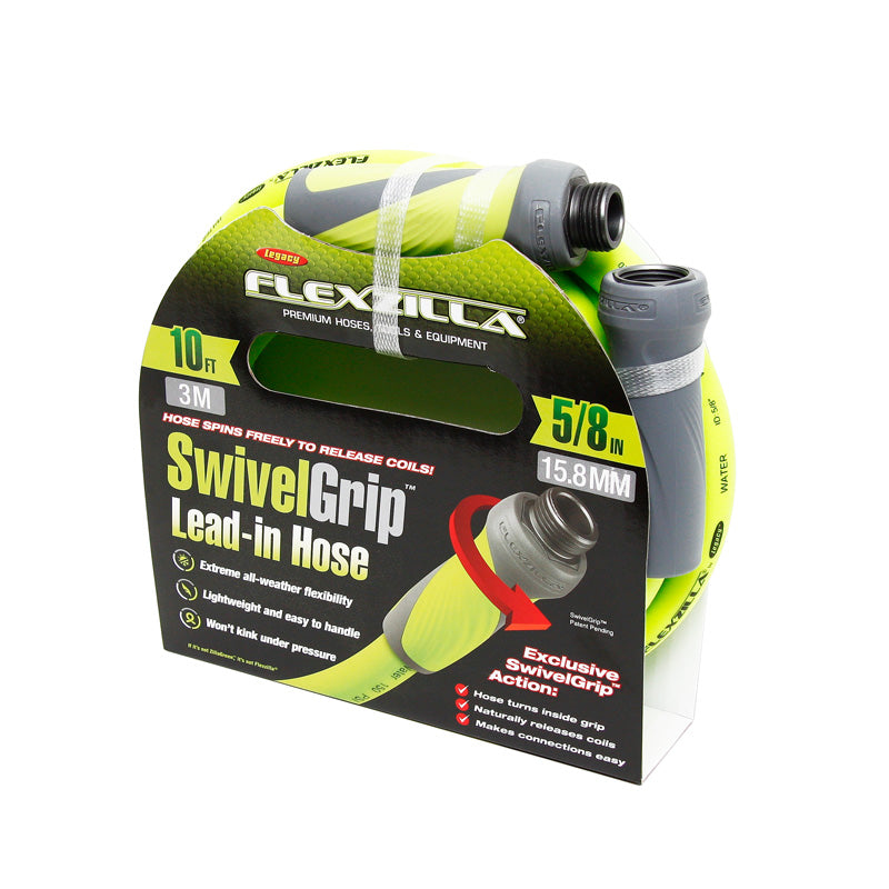 Flexzilla 5/8in Lead-in Garden Hose w/ Swivel-Grip Connections