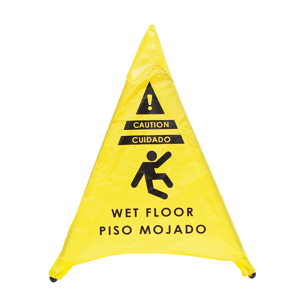 Pop-up Caution Wet Floor Sign 20in/50cm Tall