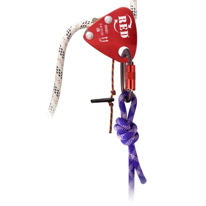 ISC RED BACK-UP DEVICE ROPE GRAB w/ POPPER TOW CORD