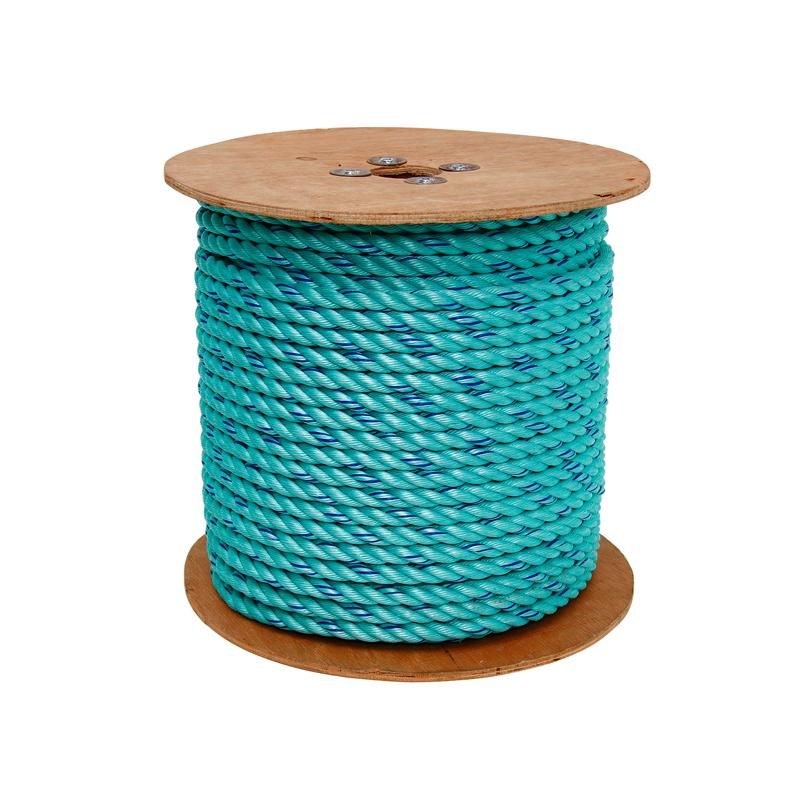"3 STRAND SAFETY POLY BLUE STEEL 5/8"" 600ft REEL"