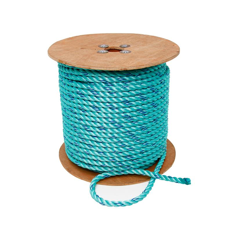 3 Strand Safety Poly Blue Steel 5/8in 600ft Reel
