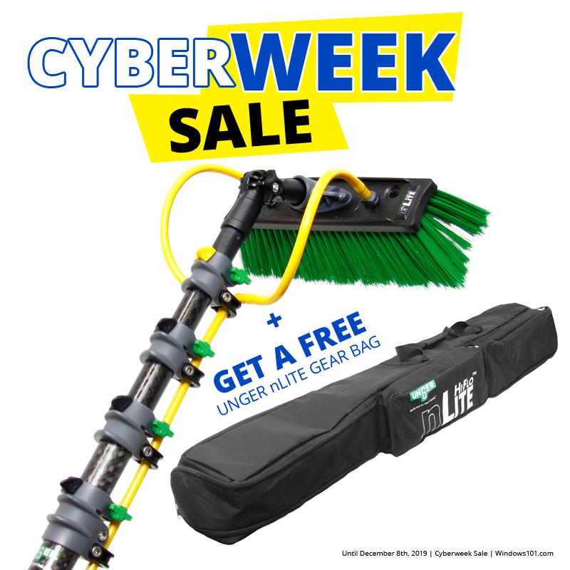 UNGER nLITE CARBON  WATERFED POLES + UNGER nLITE GEAR BAG - CYBER MONDAY DEAL