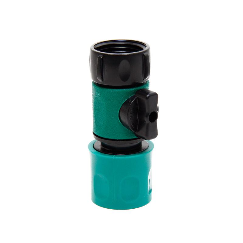 Female Quick Connect Female Hose End Connector With Shut Off Valve