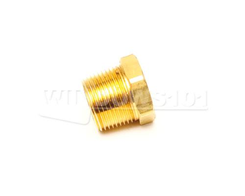 Brass 1in Male To 3/4in Fem Pipe Thread Reducer