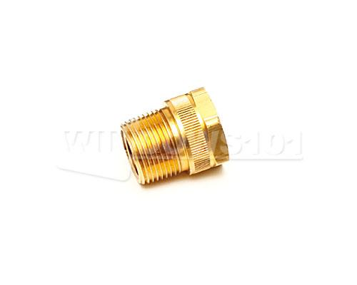"BRASS 3/4"" MALE PIPE THREAD to 3/4"" FEM  HOSE THREAD"