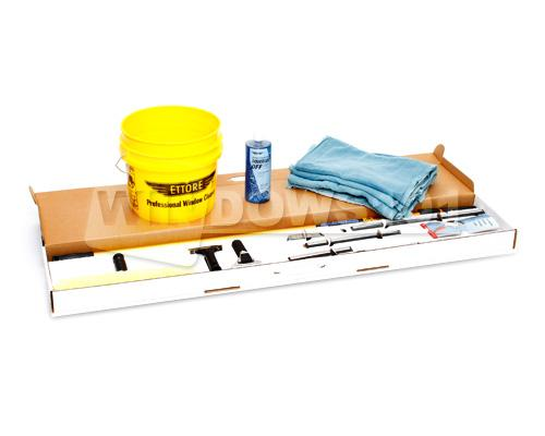 ETTORE WINDOW CLEANING KIT STANDARD with 3-1/2 GALLON BUCKET, SOAP & TOWELS