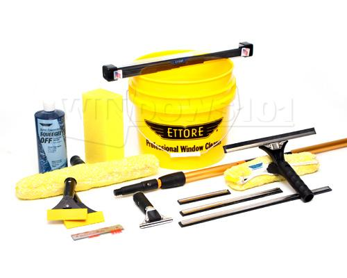Ettore Window Cleaning Kit With Bucket, Soap And 8ft Pole