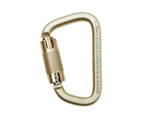 Fusion Tacoma Steel Modified D Auto-Lock 50kN Carabiner