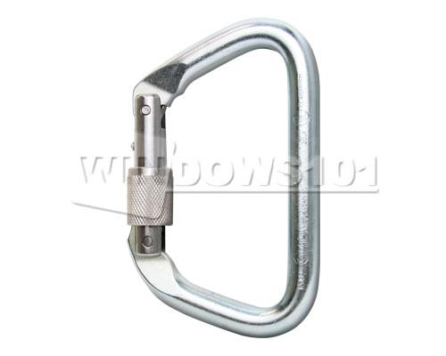 SMC Large Steel Screw Gate Locking 46kN Carabiner