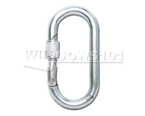 Stubai Oval Steel Screw Gate Locking 30kN Carabiner