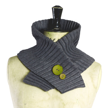 Button collar - Dark grey