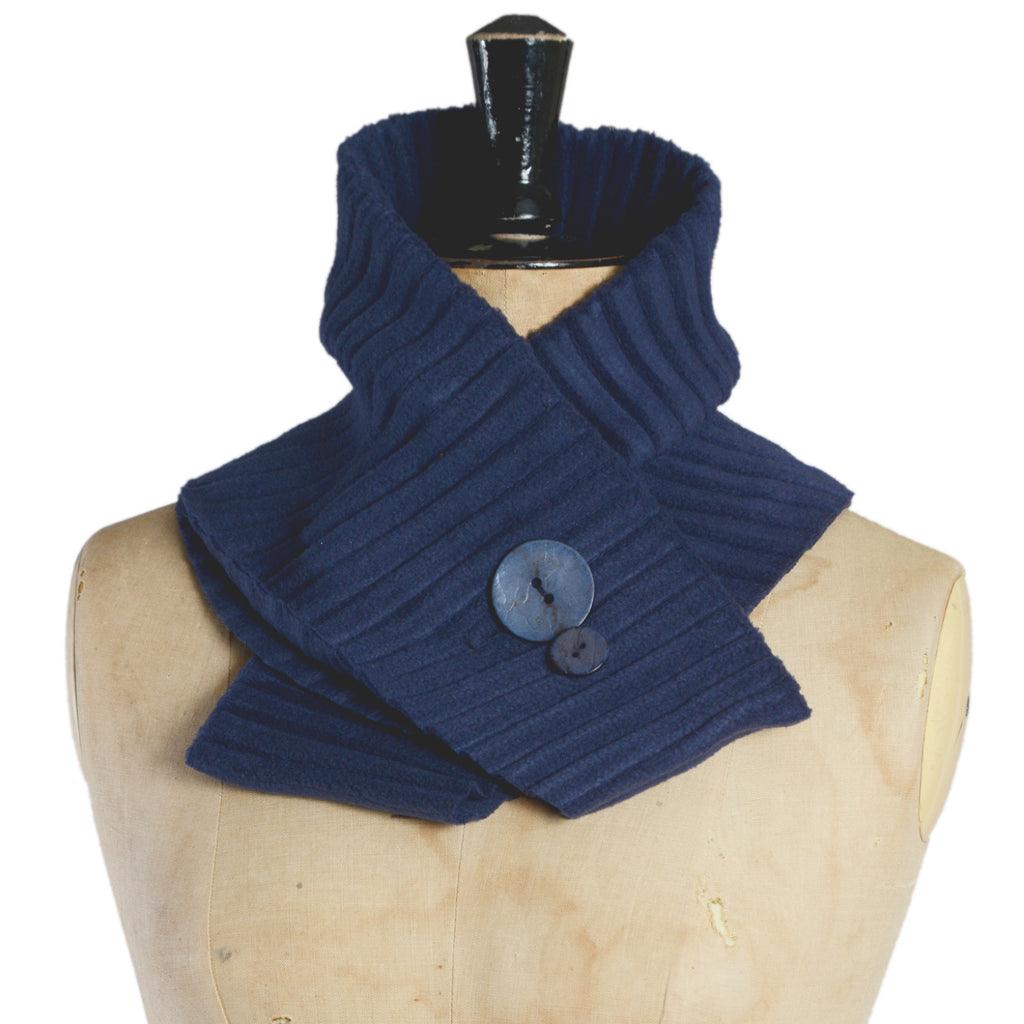 Button collar - Navy blue/blue - annafalcke.com