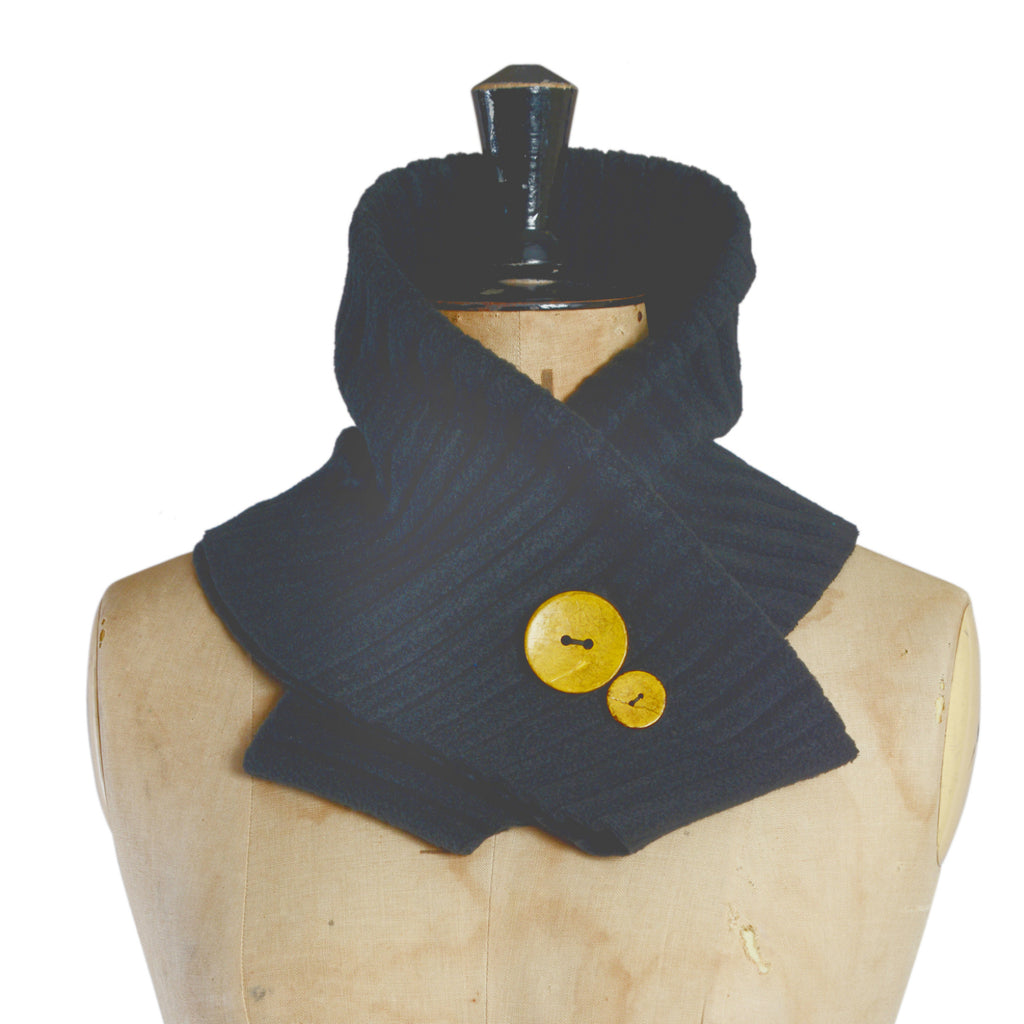 Button collar - Black/yellow - wristies