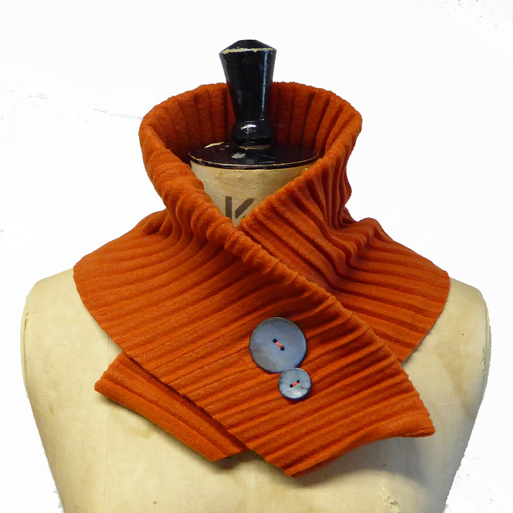 Button collar - Rust/blue - wristies
