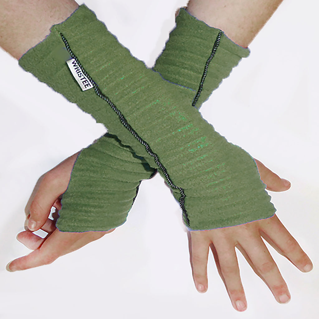 Denim Twisty Wristee® - Moss green