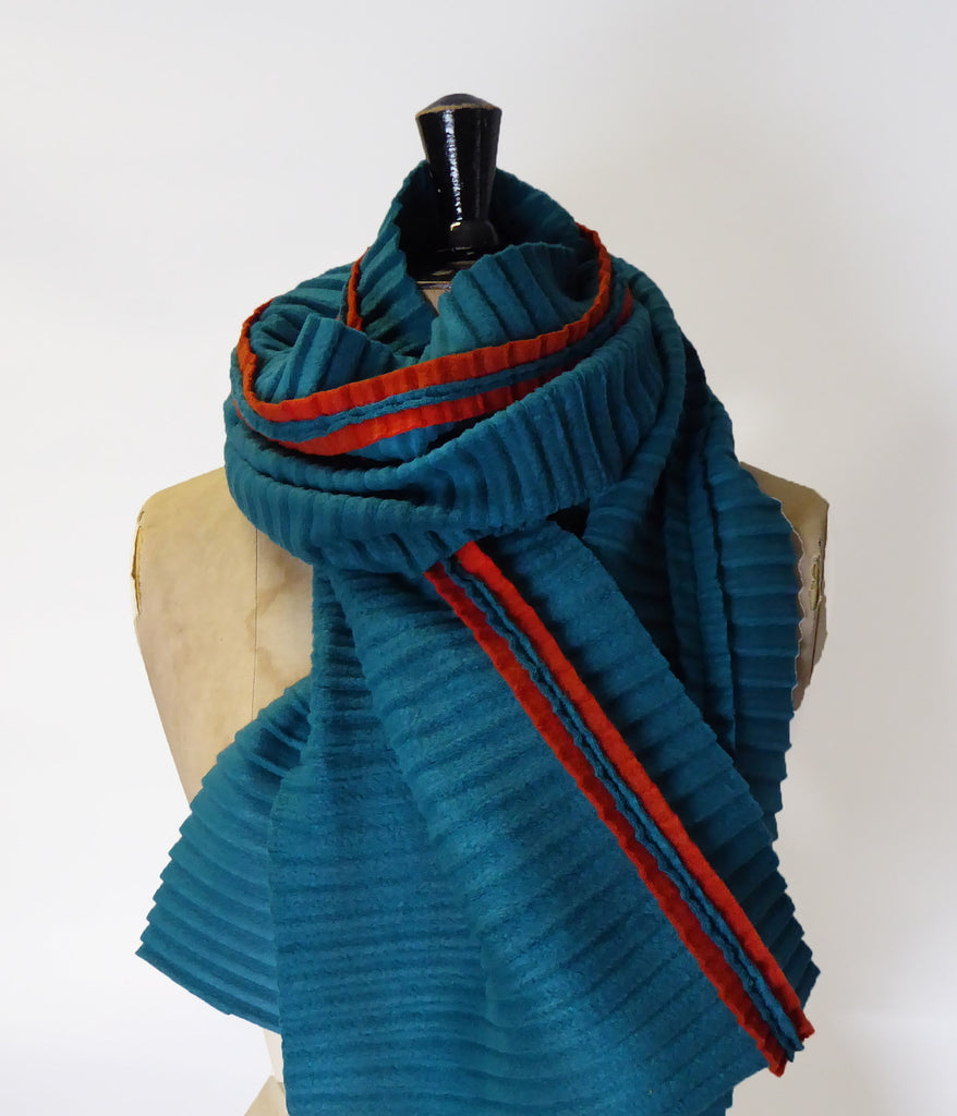Jazz scarf - Teal/Rust