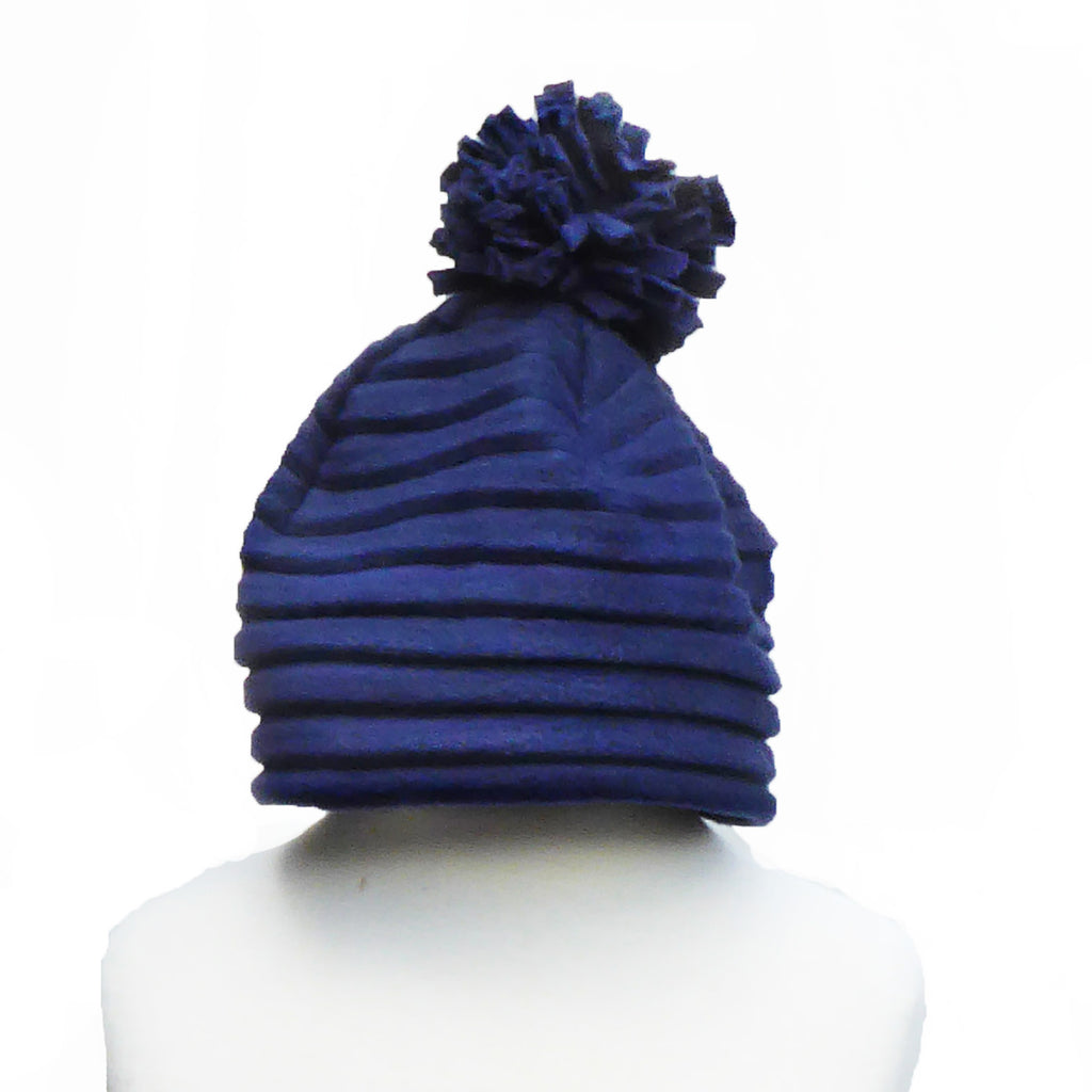 Children's Pom hat - Navy - annafalcke.com