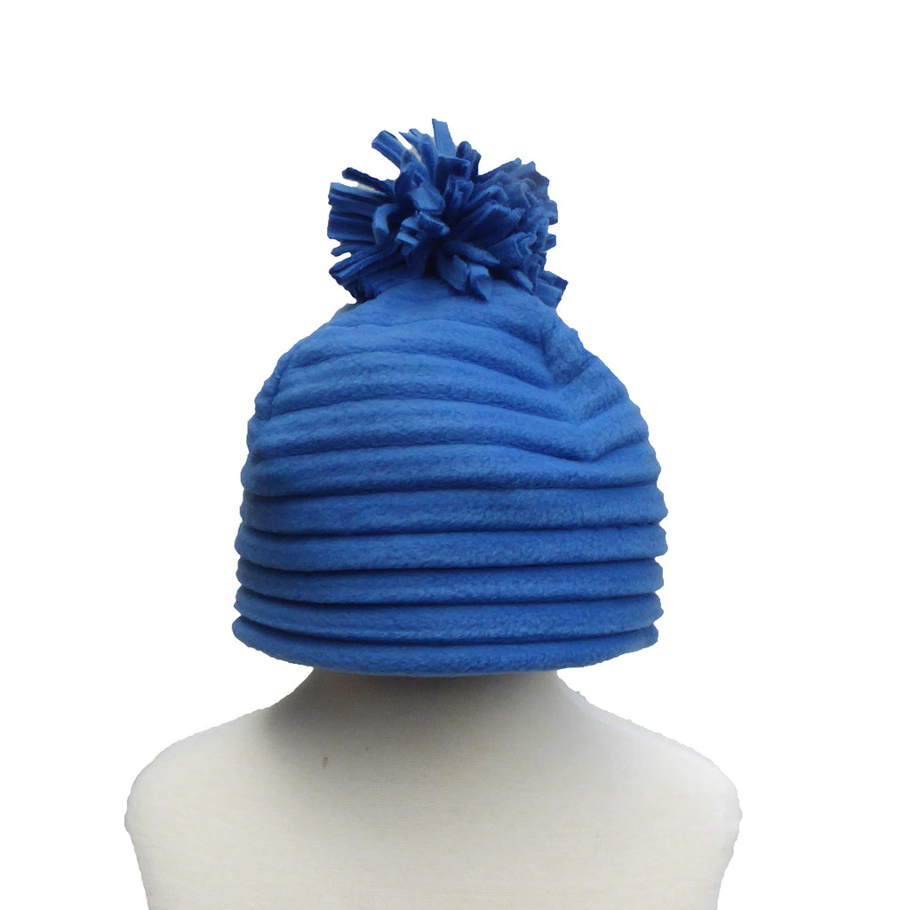 Children's Pom hat - Blue - annafalcke.com
