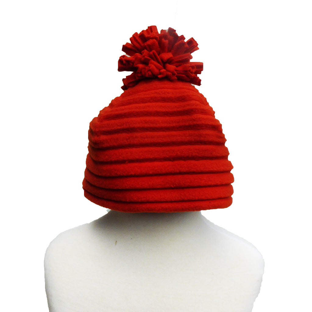 Children's Pom hat - Red - annafalcke.com