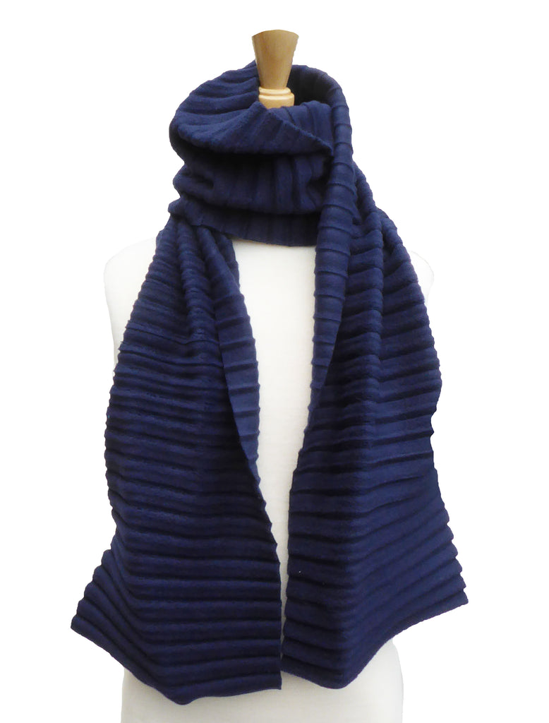 Children's Plain scarf - Navy Blue - annafalcke.com