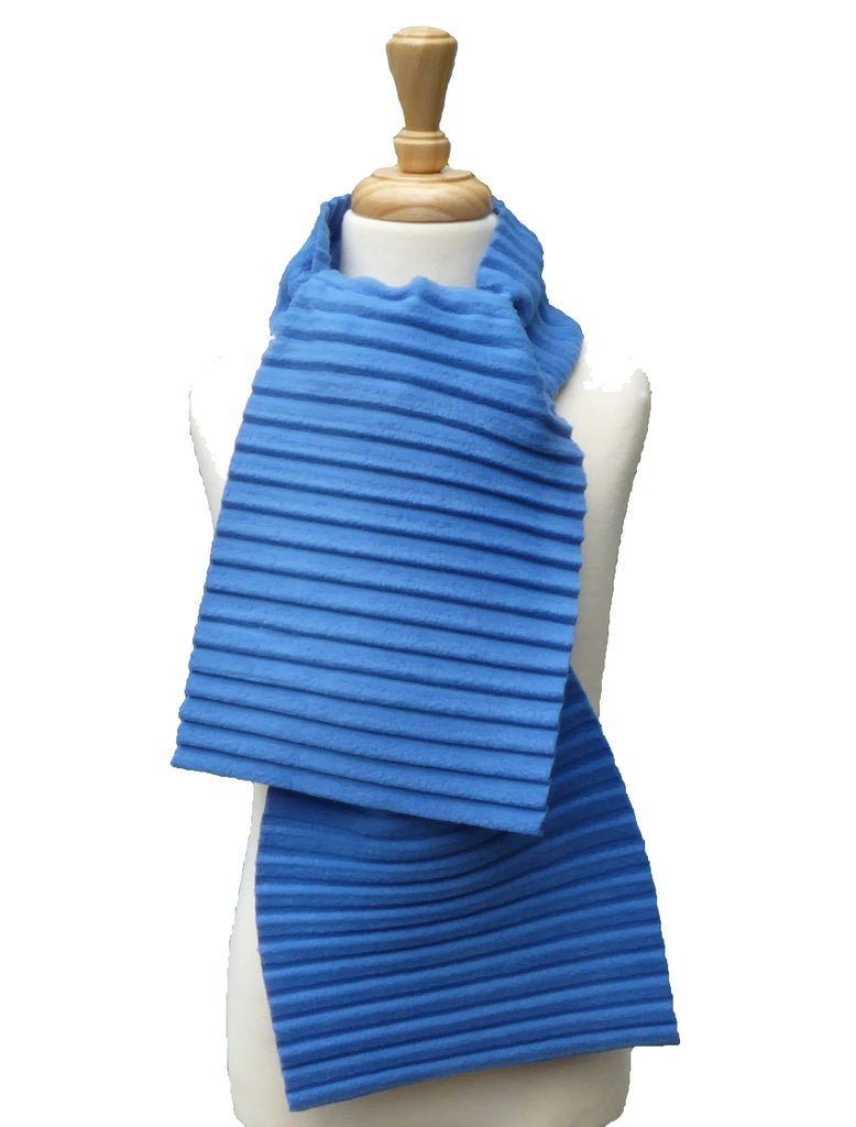 Children's Plain scarf - Blue - annafalcke.com