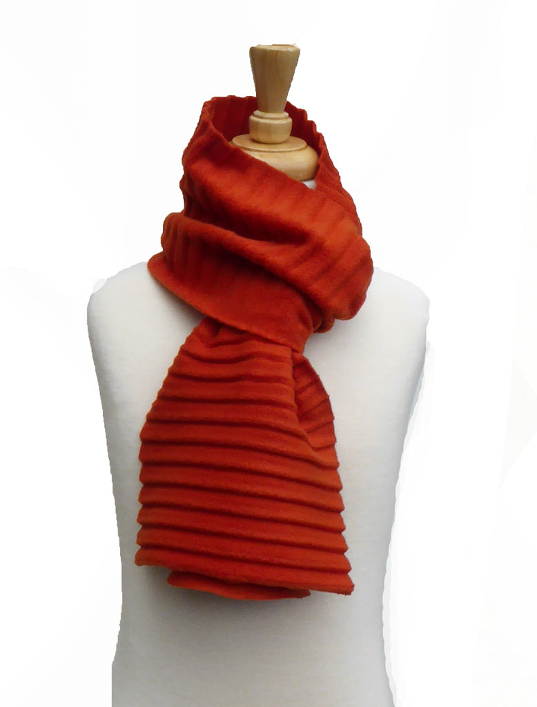 Children's Plain scarf - Red - annafalcke.com