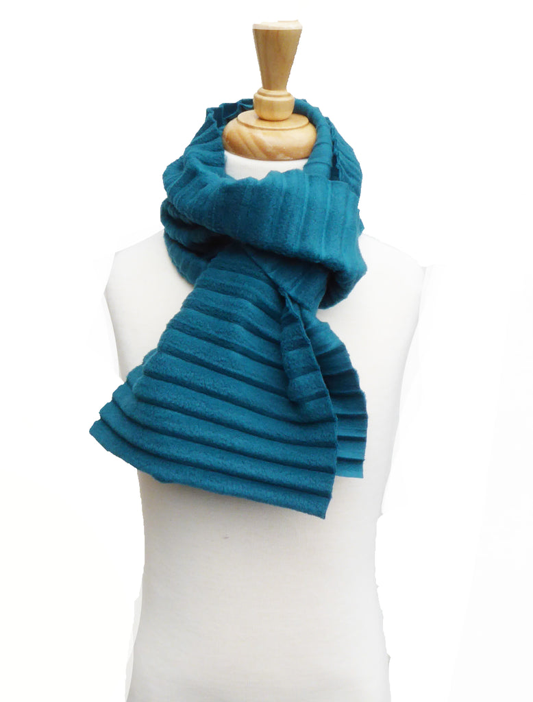Children's Plain scarf - Teal - annafalcke.com