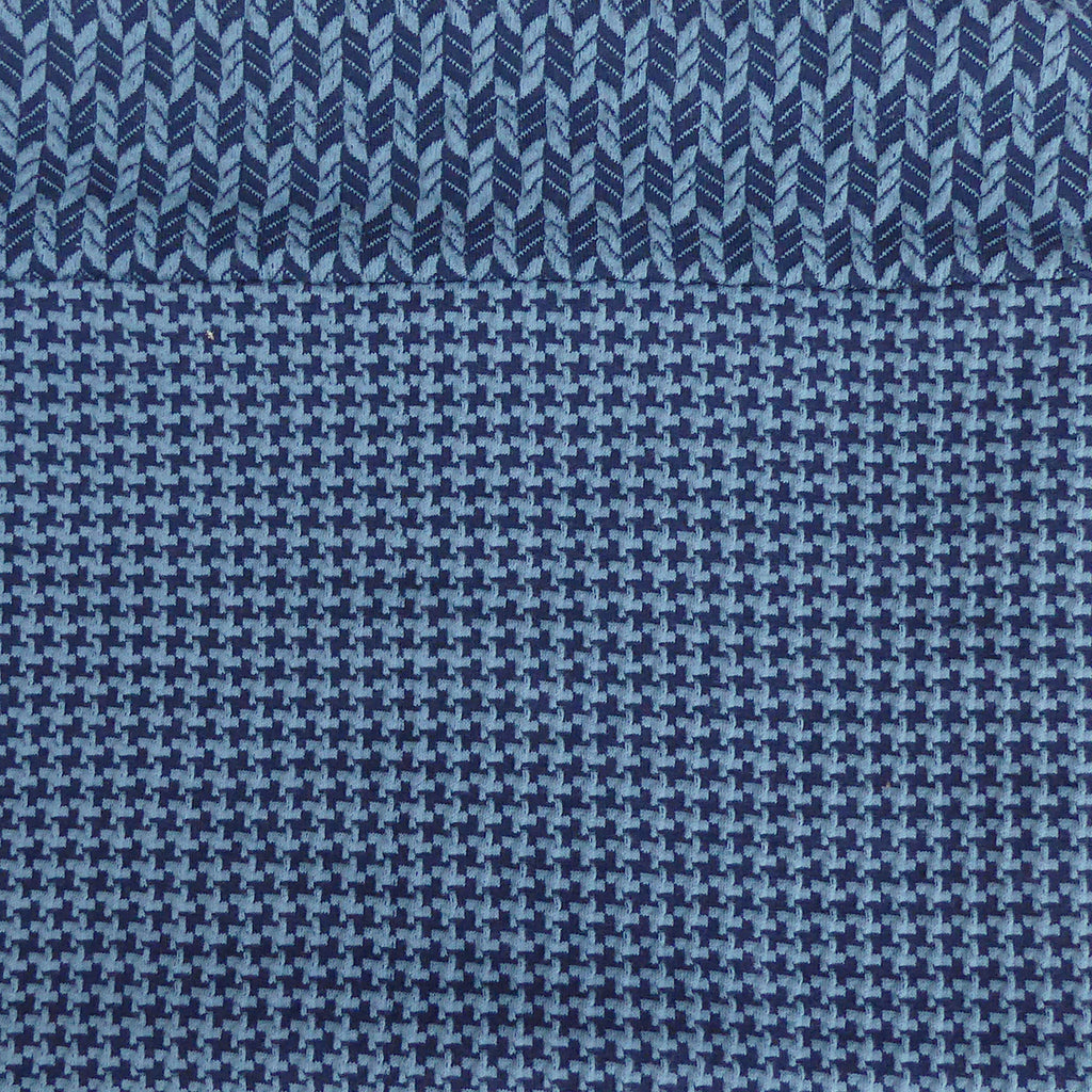Copy of Organic Jacquard cotton snood - Blue