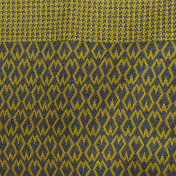 Organic Jacquard cotton snood - Mustard