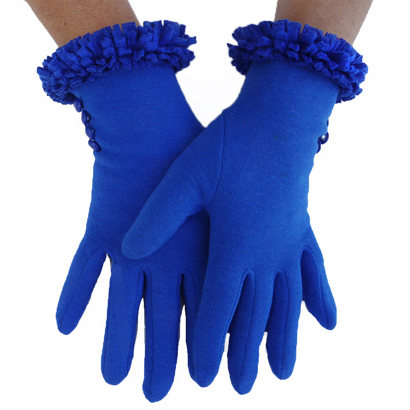 Ruffle glove - Royal blue - annafalcke.com
