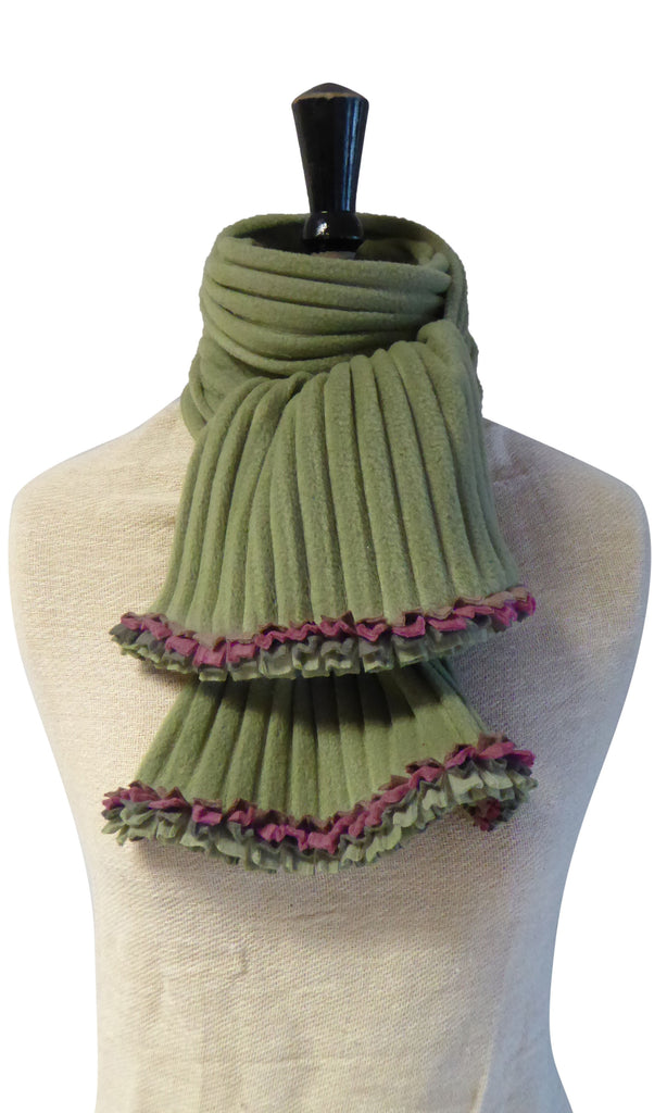 Ruffle Scarf - Avocado/Earthy - NEW - wristies