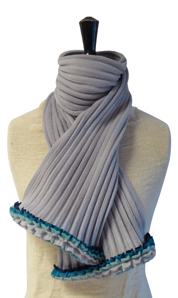 Ruffle Scarf - Silver/Icey - NEW - wristies