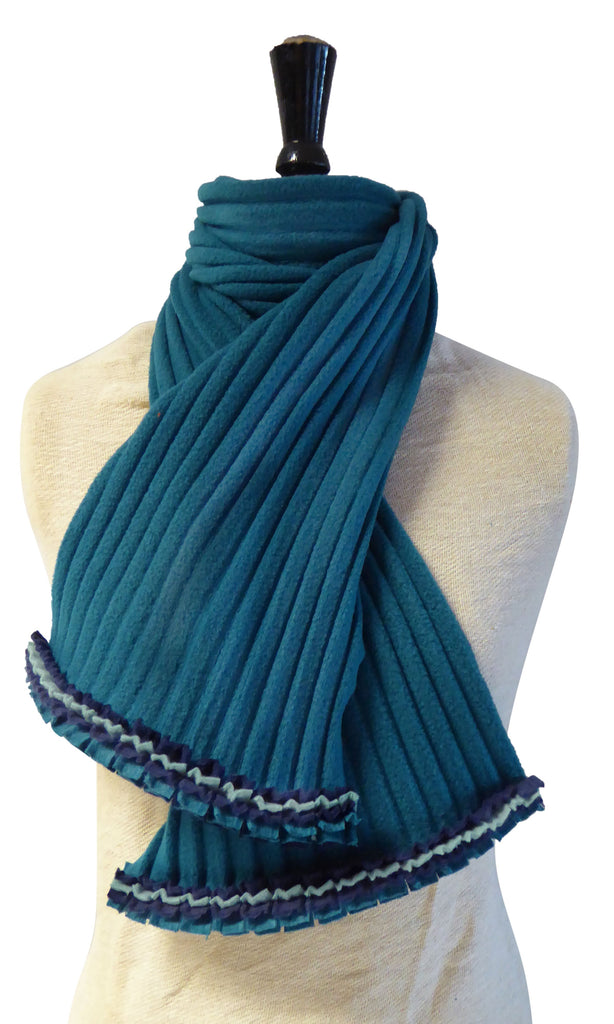 Ruffle Scarf - Teal/Icey - NEW - wristies