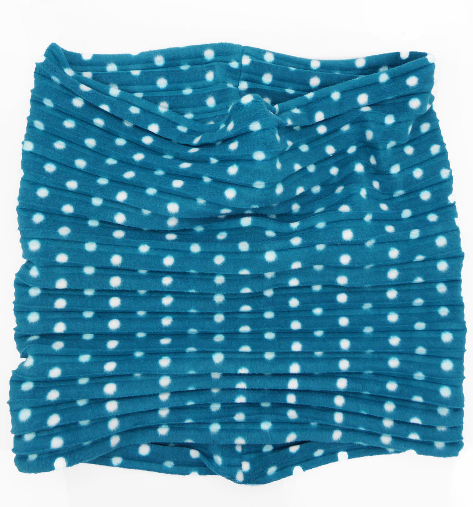 Snood - Teal spotty