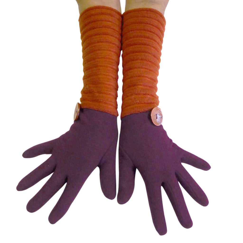 Wristee® long glove - Wine/rust - annafalcke.com