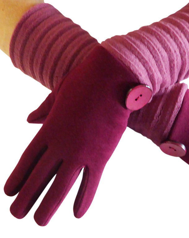 Wristee® long glove - Wine/rasberry - annafalcke.com