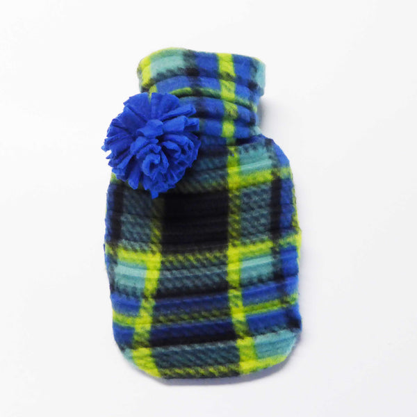 Hot water bottle - Blue check