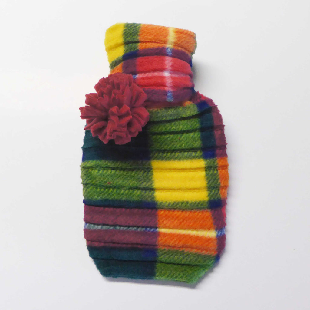 Hot water bottle - Green check - wristies