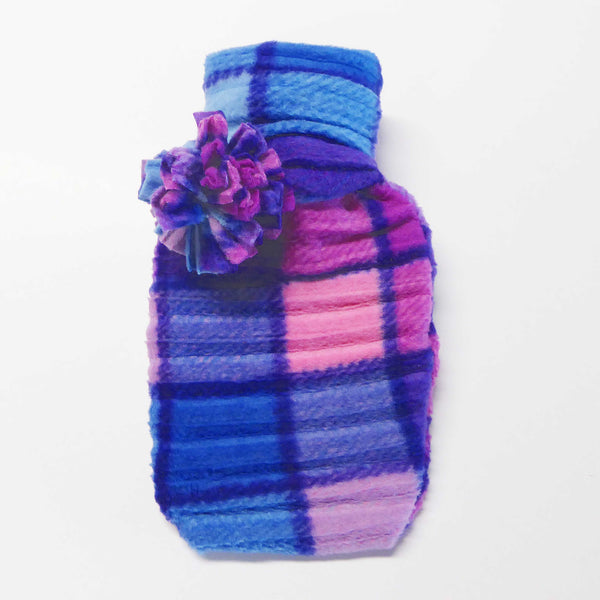 Hot water bottle - Pink check