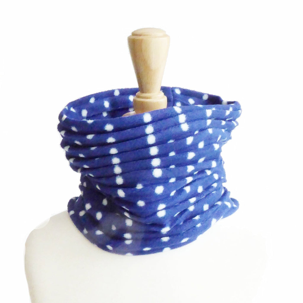 Children's Snood - Blue spotty