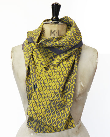 Organic Jacquard cotton Scarf- Mustard yellow