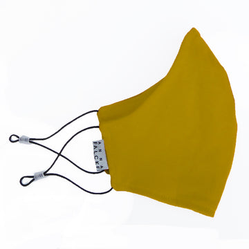 Organic jersey cotton mask - Mustard