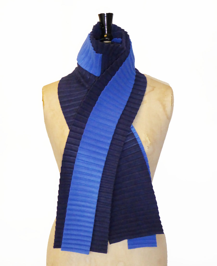 Zigzag scarf - Navy/royal blue