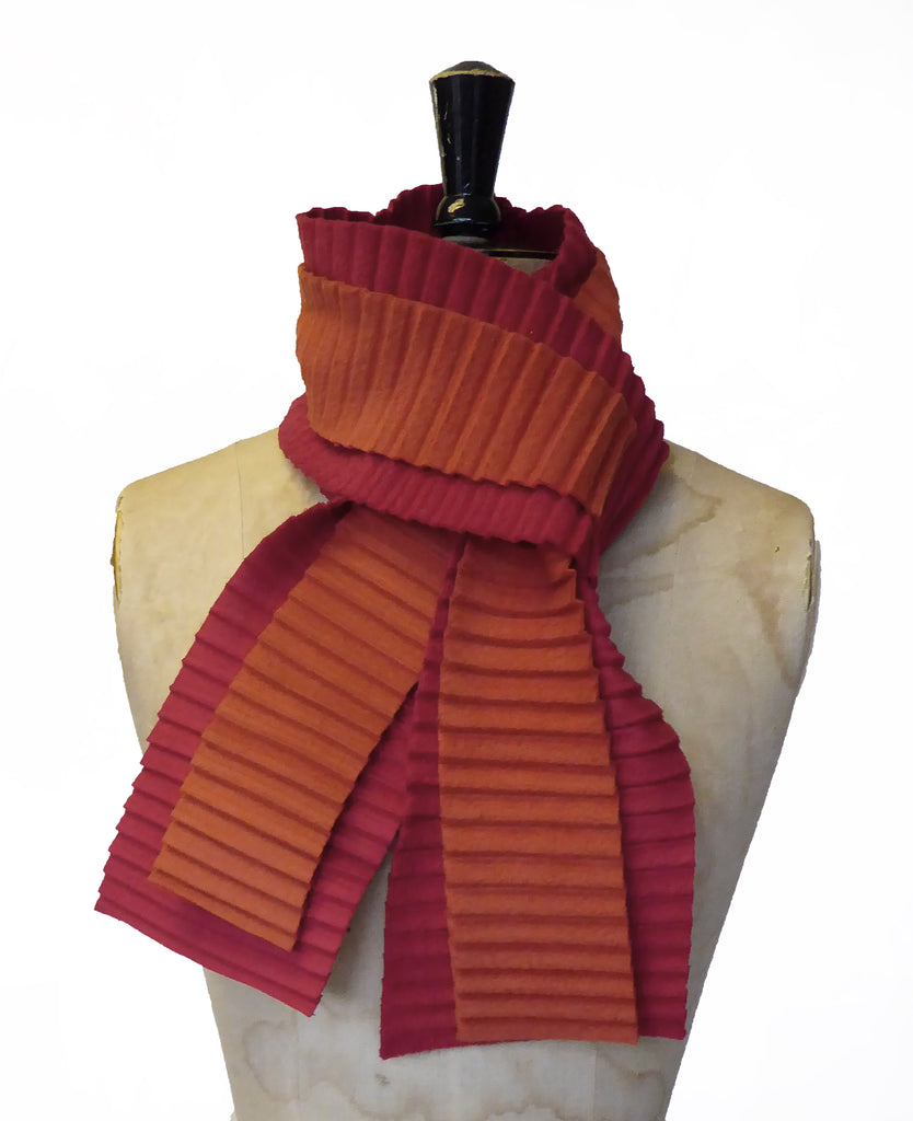 Zigzag scarf - Red/rust