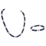 Load image into Gallery viewer, Black & Olive Coconut Beads and Puka Shell Beads Necklace & Bracelet Set