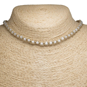 White Cat's Eye on Hemp Choker Necklace