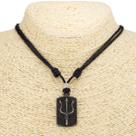 Load image into Gallery viewer, Trident Dog-tag Pendant on Adjustable Rope Necklace