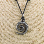 Load image into Gallery viewer, Koru Spiral Wave Pendant on Adjustable Rope Necklace