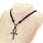 Load image into Gallery viewer, Ankh Cross Pendant on Adjustable Rope Necklace