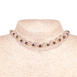 Load image into Gallery viewer, Tiger Brown and Black Coconut Beads on Hemp Choker Necklace